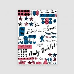 Portada Libro Un libro para colorear, de Andy Warhol
