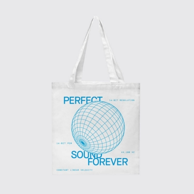 """Tote bag """"Perfect Sound Forever"""""""