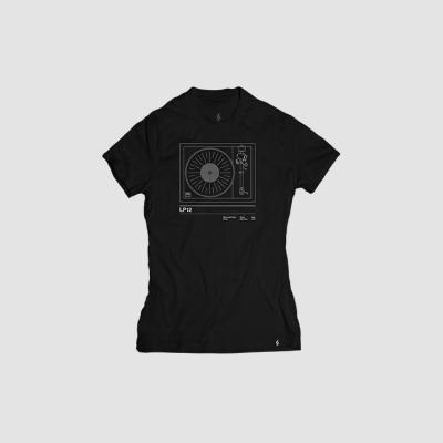Camiseta mujer talla S - LP12 negra