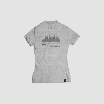 Camiseta mujer talla M - MC275 gris