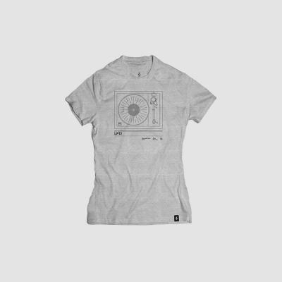 Camiseta mujer talla M - LP12 gris