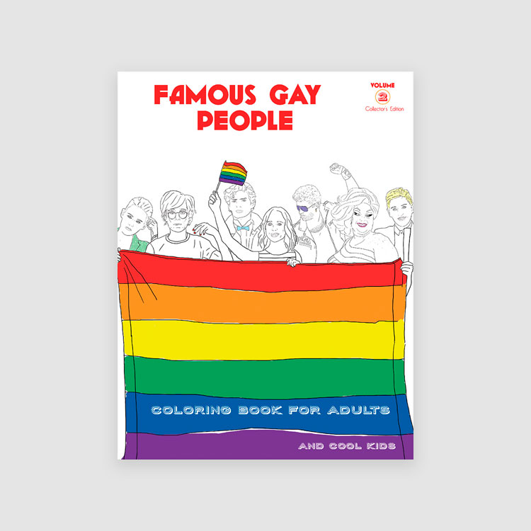 Portada Famous Gay People: coloring book