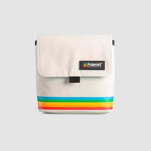 Bolso blanco para cámara Polaroid