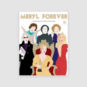 Portada libro Meryl Forever: Coloring books for adults and cool kids